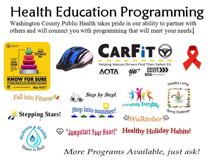 Health Ed Programming Cover Photo