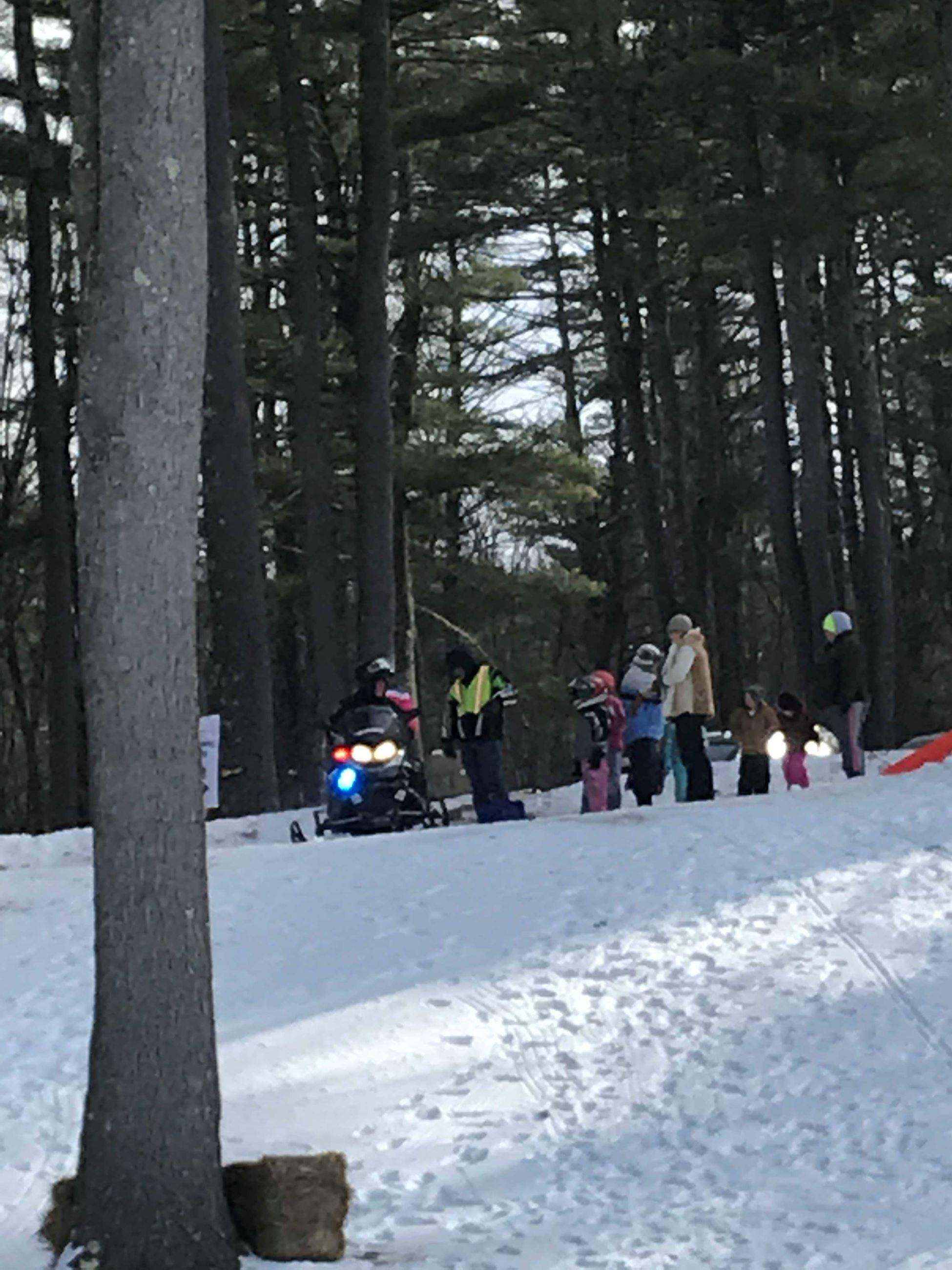 Winterfest 2019 Snowmobile line