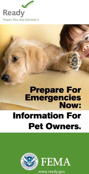 Prepare Pet owners brochure