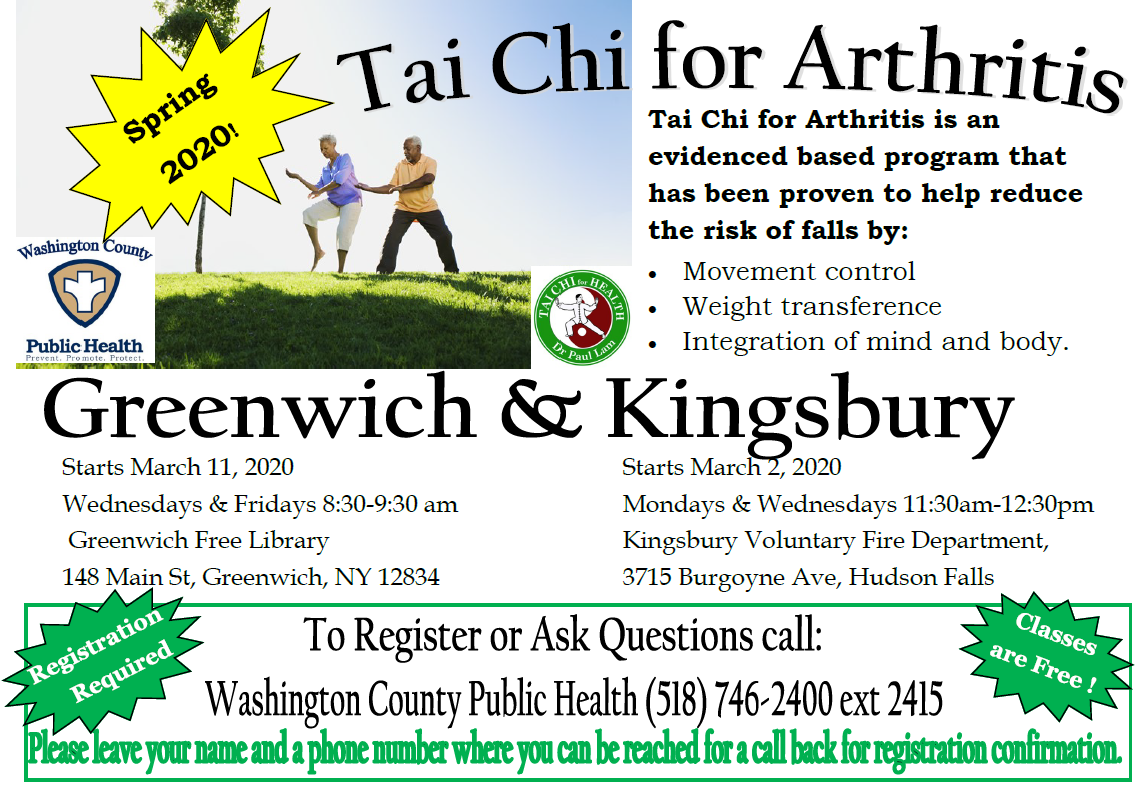 Tai Chi Spring 2020 Greenwich and Kingsbury