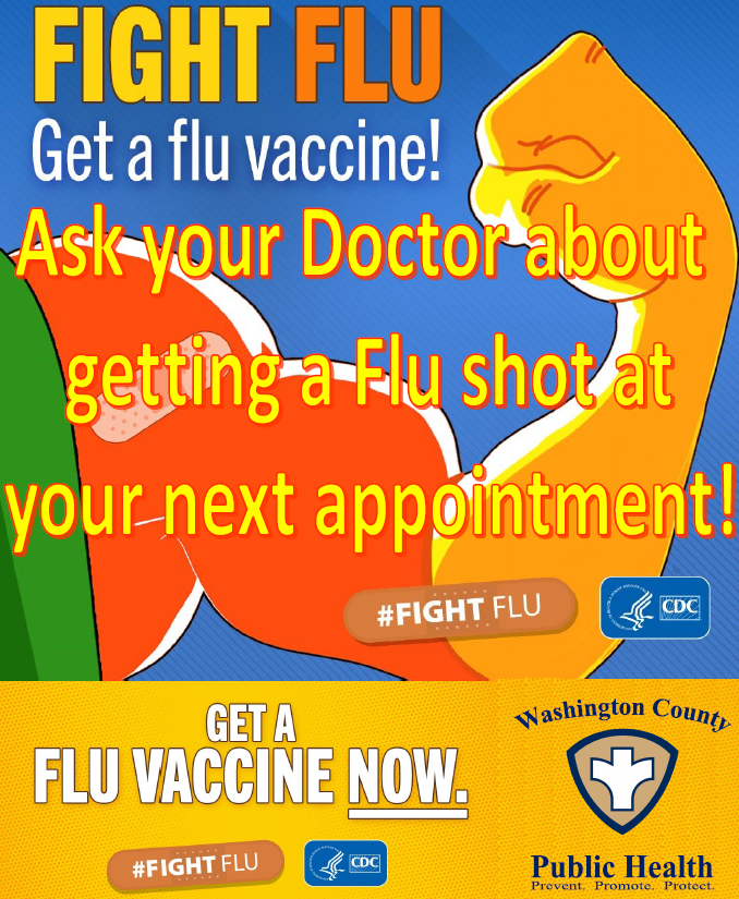 Get Flu Shot Now Flyer PIC