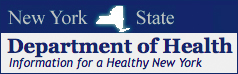 New York State Department of Health Website Banner Logo link to website
