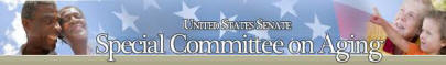 US Senate Special Committee on Aging Banner Logo link to website